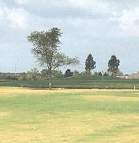 Blackhawk Golf Club - The challenging approach over water to the par-5, 533-yard No. 13