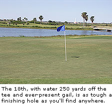 Hole 18th at Galveston Municipal