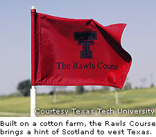 Flag At Rawls Golf Course