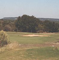 Delaware Springs Golf Course - The picturesque par-3, 165-yard No. 13.